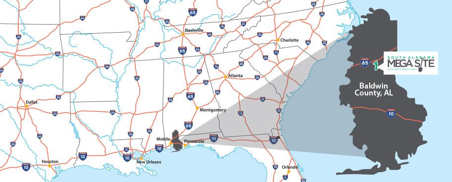mega-site - Baldwin County Alabama Economic Development ... on dekalb county, baker county alabama map, madison county, nashville alabama map, houston county, pine grove alabama map, jefferson county, daphne alabama map, macon alabama map, autauga county alabama map, city of cullman alabama map, morgan county, spanish fort, gulf shores, escambia county, north alabama county map, orange beach, gulf shores alabama map, monroe county, black warrior river alabama map, montgomery county, barbour county alabama map, washington county, calhoun county, mobile county, st. augustine alabama map, baldwin beach express map, shelby county, silverhill alabama map, cook county alabama map, stockton alabama map, walton county alabama map, gulf state park alabama map, south carolina alabama map, perdido alabama map, butler county,